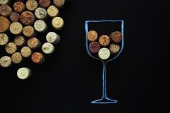 Många korkar rubber vin bakgrund arkivfoton
