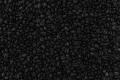 Många korn av grillat kaffe arkivbild