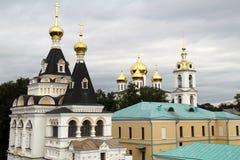 Många kupoler av kyrkor Arkivbild