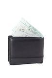 Många kvitton i plånbok Royaltyfri Fotografi