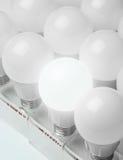 Många ledde ljus vetenskap och teknikbakgrund för lampor Arkivfoto