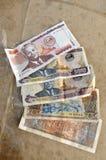 Många Loas för Paper pengar Set Arkivfoton