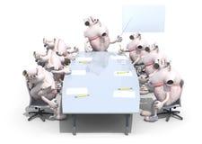 Många mänskliga hjärtaorgan som möter runt om tabellen Arkivfoto