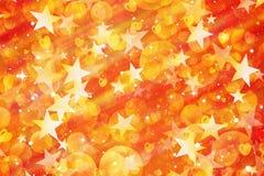 Många målade flyga stjärnor, rundor och hjärtor royaltyfri illustrationer