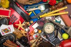 Många objekt i kaos royaltyfri foto