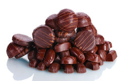 Många olik chokladgodis Royaltyfri Foto
