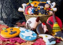 Många olika haloween kakor Royaltyfri Foto