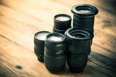 Många optiska linser för foto arkivbilder