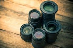 Många optiska linser för foto fotografering för bildbyråer