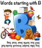 Många ord som startar med B stock illustrationer
