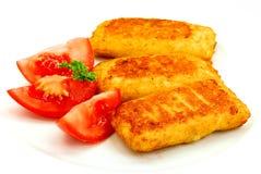 många ostklimpar mozzarella Royaltyfria Foton