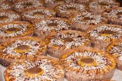 Många påskkakor med choklad Royaltyfri Fotografi