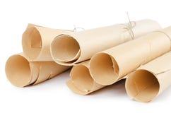 många paper scrolls Royaltyfri Bild