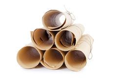 många paper scrolls Arkivbilder