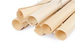 många paper scrolls Royaltyfria Foton