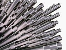 många pipe Arkivfoton