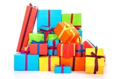 Många presents fotografering för bildbyråer