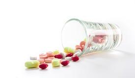 Många preventivpiller Arkivbild