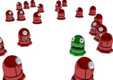 många robottoys royaltyfri illustrationer
