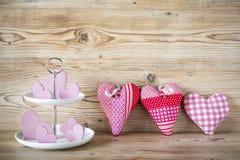 Många rosa hjärtor Arkivbilder