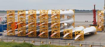 Många rotorblad Arkivbild