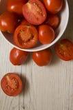 Många saftiga tomater Royaltyfri Foto