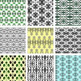många seamless wallpapers royaltyfri illustrationer