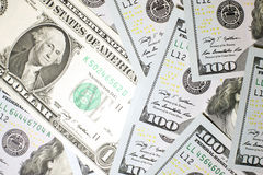 Många sedlar en US dollar Royaltyfria Foton