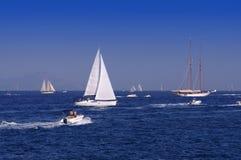 Många segla fartyg Arkivfoton