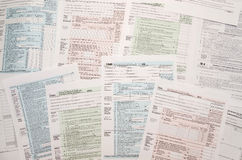 Många skattformer Arkivfoton