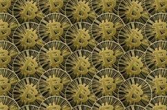 Många skinande guld- Bitcoin mynt för bakgrund eller textur royaltyfri fotografi