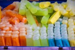 Många sorter av fruktfruktsaft Royaltyfri Bild