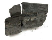 Många stycken av kol royaltyfri foto