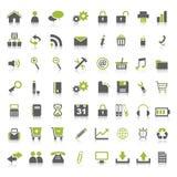 många symboler rengöringsduk royaltyfri illustrationer