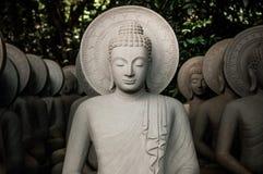 Många traditionell Kantharaj Buddha sniden stenstaty royaltyfri foto