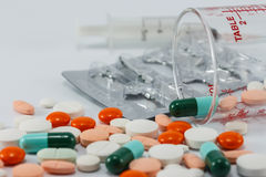 Många typ av drogen Royaltyfri Fotografi