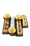 Många typer av choklad Royaltyfri Fotografi