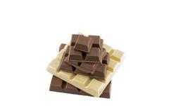 Många typer av chokladstången Royaltyfri Foto