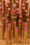 Många verkliga ammunitionar Arkivfoto