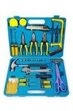 många verktygslådahjälpmedel Arkivbild
