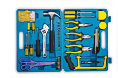 många verktygslådahjälpmedel Royaltyfri Foto