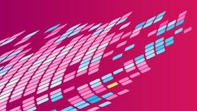 Mångfärgad abstrakt bakgrund av violetta rosa fyrkanter, romber, rektangeltegelplattor, mosaik med sömmar royaltyfri illustrationer