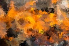 Mångfärgad abstrakt bakgrund för vektor av geometriska trianglar för effekt Royaltyfri Foto