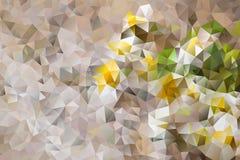 Mångfärgad abstrakt bakgrund för vektor av geometriska trianglar för effekt Royaltyfria Bilder
