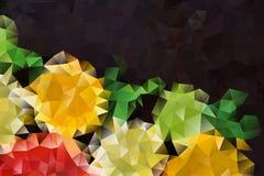 Mångfärgad abstrakt bakgrund för vektor av geometriska trianglar för effekt Royaltyfri Fotografi