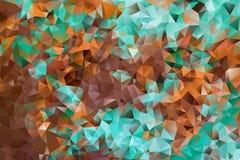 Mångfärgad abstrakt bakgrund för vektor av geometriska trianglar för effekt Arkivbilder