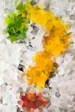 Mångfärgad abstrakt bakgrund för vektor av geometriska trianglar för effekt Arkivbild