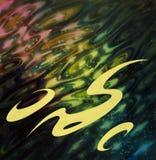 Mångfärgad abstrakt reflexionsmålning Arkivbild