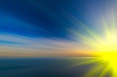 Mångfärgad abstrakt solnedgång Royaltyfri Bild