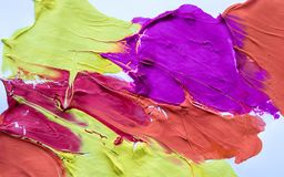 Mångfärgad abstrakt textur med fläckar, utrymme för text eller bild Arkivbild